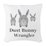 Dust Bunny Wrangler Woven Throw Pillow