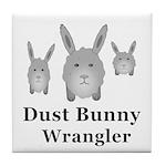 Dust Bunny Wrangler Tile Coaster