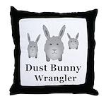Dust Bunny Wrangler Throw Pillow