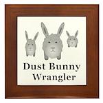 Dust Bunny Wrangler Framed Tile