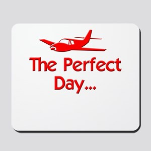 red perfect day airplane flying radio co Mousepad