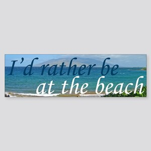 Beautiful Beach Sticker (Bumper)
