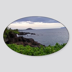 Hawaii Landscape Sticker (Oval)