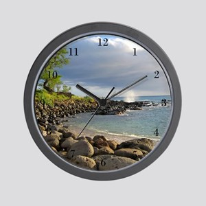 Wave On Beach Shore Wall Clock