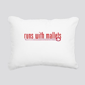 funny mallet Rectangular Canvas Pillow