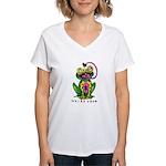 Weird Frog Women's V-Neck T-Shirt
