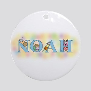 """Noah"" with Mice Ornament (Round)"