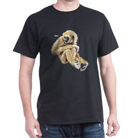 Gibbon Ape Black T-Shirt