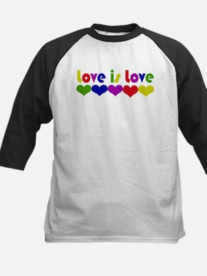 Love is Love Kids Baseball Jersey