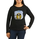 Rainy Day Penguin Women's Long Sleeve Dark T-Shirt