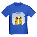 Rainy Day Penguin Kids Dark T-Shirt
