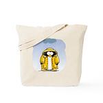 Rainy Day Penguin Tote Bag
