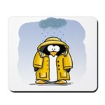 Rainy Day Penguin Mousepad