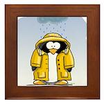 Rainy Day Penguin Framed Tile