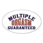 adult humor Oval Sticker