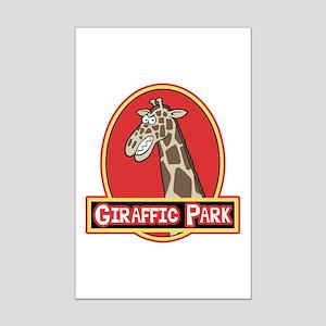 Giraffic Park Mini Poster Print