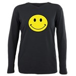 Smiley Face Plus Size Long Sleeve Tee