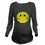 Smiley Face Long Sleeve Maternity T-Shirt