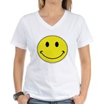Smiley Face Women's V-Neck T-Shirt