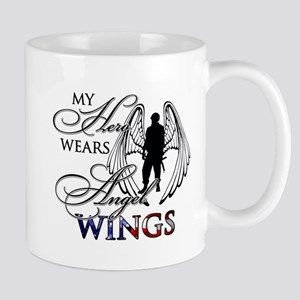 My Hero Wears Angel Wings Mug