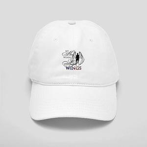 My Hero Wears Angel Wings Cap
