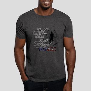 My Hero Wears Angel Wings Dark T-Shirt