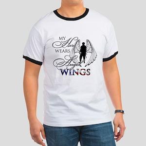 My Hero Wears Angel Wings Ringer T