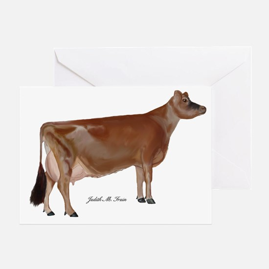 Jersey Cow Greeting Card