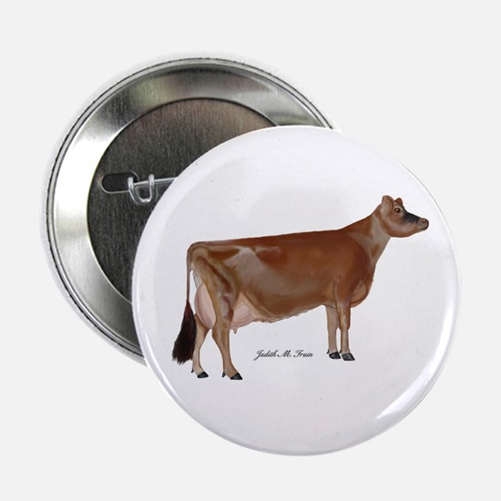 """Jersey Cow 2.25"""" Button"""