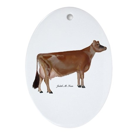 Jersey Cow Ornament (Oval)