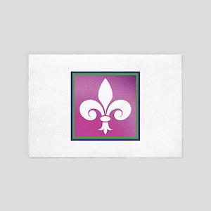 Mardi Gras Fleur De Lis 4' x 6' Rug