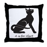 """Catoliner """"A"""" Throw Pillow"""