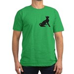 """Catoliner """"A"""" Men's Fitted T-Shirt (dark"""