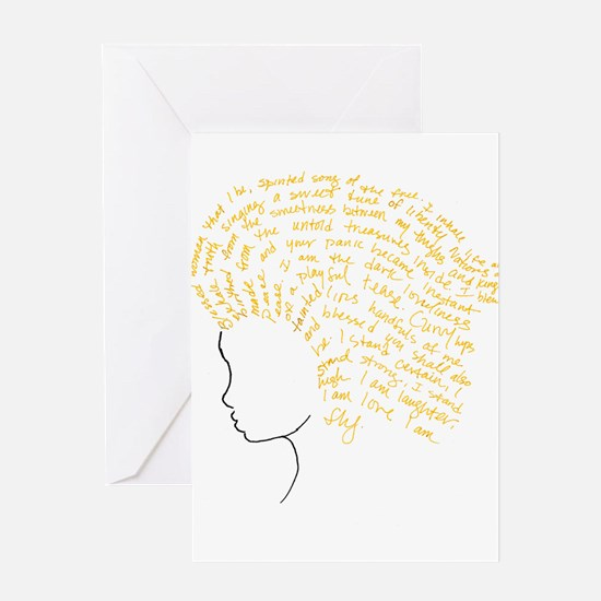 Cute Hairstyle Greeting Card