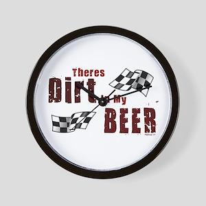 Dirt in my Beer Wall Clock