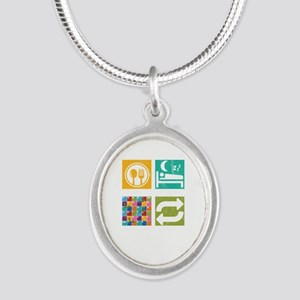 Eat Sleep Board Game Repeat Strategy Gam Necklaces
