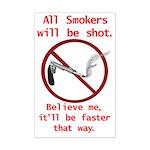 No Smoking Mini Poster Print