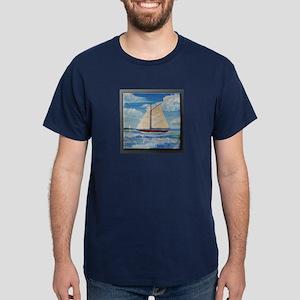 Sailing the Monterey Bay Dark T-Shirt