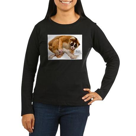 Slow Loris Women's Long Sleeve Dark T-Shirt
