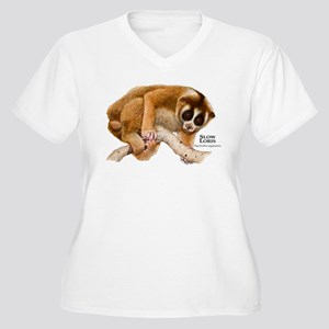 Slow Loris Women's Plus Size V-Neck T-Shirt