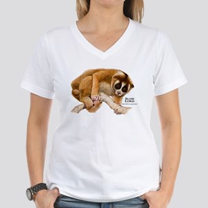 Slow Loris Women's V-Neck T-Shirt