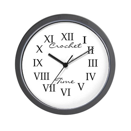 Crochet Time Wall Clock