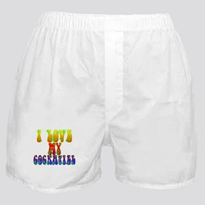 Love My Cockatiel Boxer Shorts