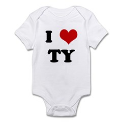 I Love TY Infant Bodysuit