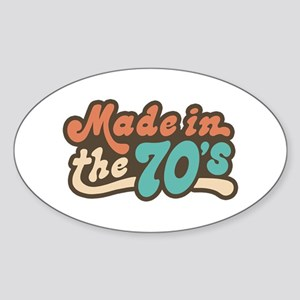 Made in the 70's Oval Sticker