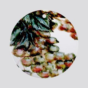 """Green Grapes"" Ornament (Round)"