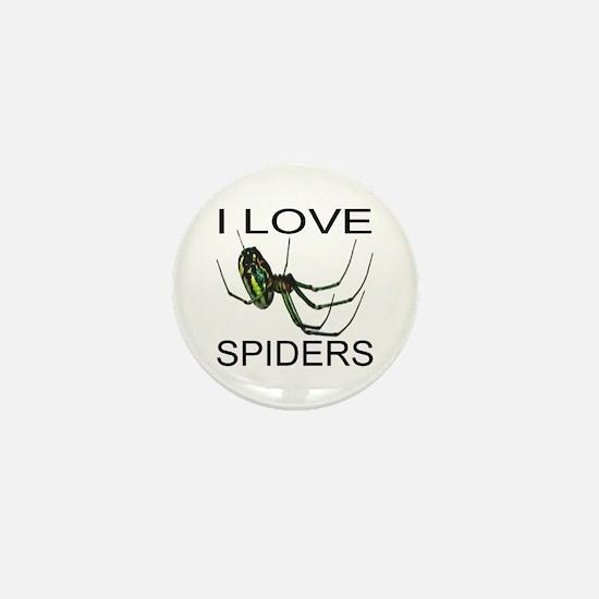 I Love Spiders Mini Button