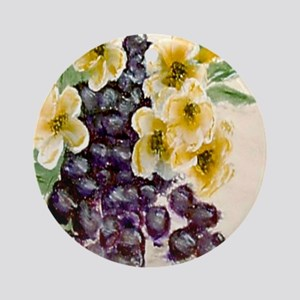 """""""Grapes and Blossoms"""" Ornament (Round)"""