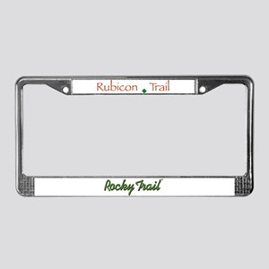 Rubicon Trail Type License Plate Frame