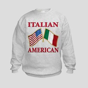 Italian american Pride Kids Sweatshirt